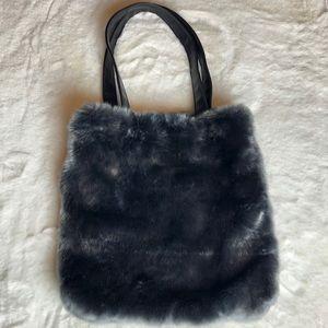Handbags - Grey faux fur tote